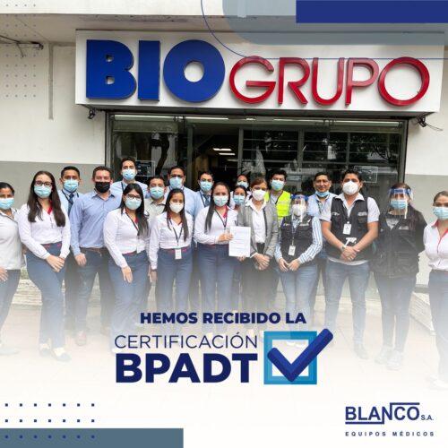 Hemos recibido la Certificación BPADT